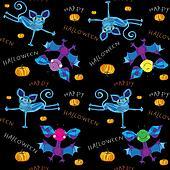 happy halloween kids pattern