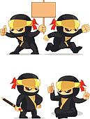 Ninja Customizable Mascot 6