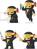 Ninja Customizable Mascot 9