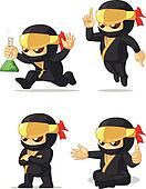 Ninja Customizable Mascot 12