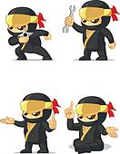 Ninja Customizable Mascot 14