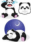 Panda Set 2 - Sleeping, Crying, Pan