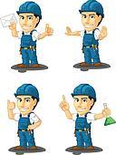 Technician or Repairman Mascot 4