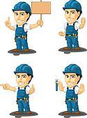 Technician or Repairman Mascot 9
