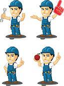 Technician or Repairman Mascot 10