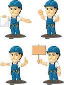 Technician or Repairman Mascot 12