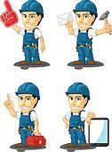 Technician or Repairman Mascot 15