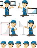 Technician or Repairman Mascot 16