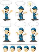Technician or Repairman Mascot 17