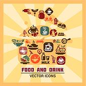 colorful food and drink icons