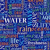 Seamless tag cloud with water words