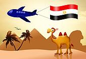 camel with flag Egypt
