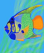 Funny fish illustration