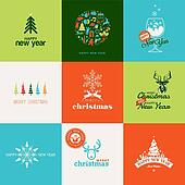 Set of elements for greeting cards