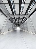 Modern futuristic walkway