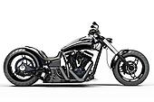 Custom black motorcycle