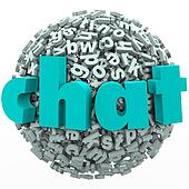 Chat Word Letter Ball Sphere Talking Discussion