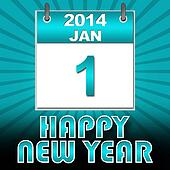 Happy New Year 2014 Turquoise