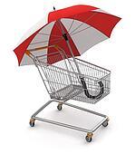 Shopping Cart with Umbrella