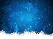 Xmas Snow Background