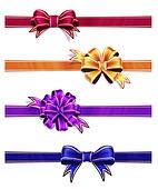 Colorful Ribbon with Bow Set