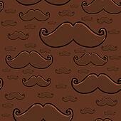 Chocolate Mustache Seamless Pattern
