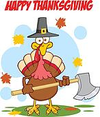 Happy Thanksgiving With Turkey