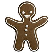 Gingerbread 3D cartoon christmas man shape cookie