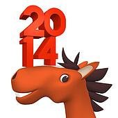 2014Number On Cheerful Horse's Face