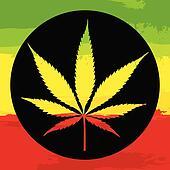 Marijuana leaf illustreation