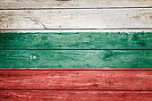 bulgarian flag on wood