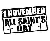 All saint's day stamp