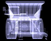 Big truck. X-ray