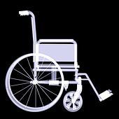 Wheelchair. X-ray