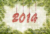 Happy new year 2014! New year design template. Vector illustration.