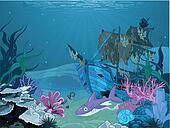 Underwater landscape