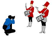 Drums and photographer