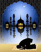muslim man praying at the Mosque