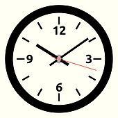 vector clock face - easy change tim