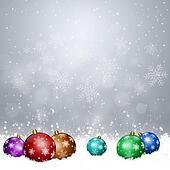 Xmas Balls on Snow