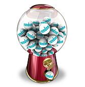 Random Chance Luck Gumball Machine Dispenser