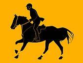 Racehorse running