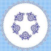 blue cloth round