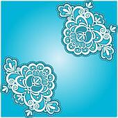 blue floral napkin