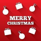 Christmas greeting card. Merry Christmas flat icon
