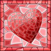 Heart stained glass window.