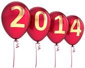 New 2014 Year balloons decoration