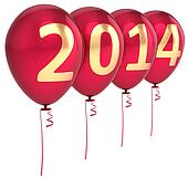 New Year 2014 balloons decoration