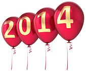 Happy 2014 New Year balloons