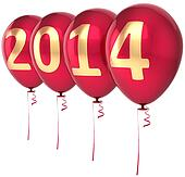 Happy New Year 2014 balloons